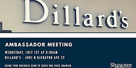 Ambassador Meeting - DIllard's tickets