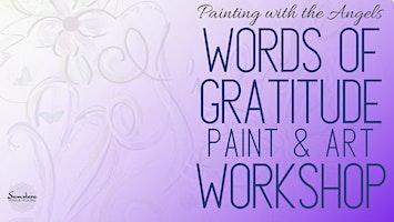 Words of Gratitude Paint & Art Workshop at Samskara Yoga