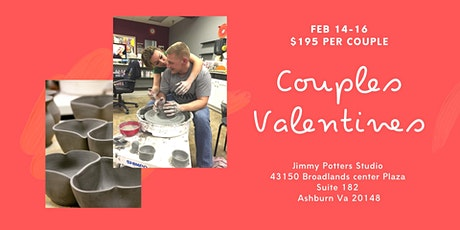 Couples Valentine's pottery tickets