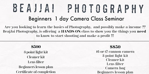 BeaJjai Photography Beginners Camera Class Seminar