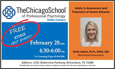 Safety in Assessment and Treatment of Severe Behavior tickets