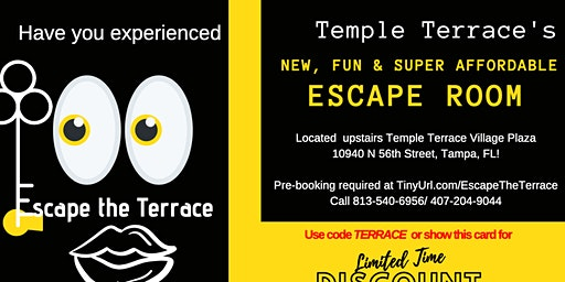 Escape the Terrace: Escape Room Experience