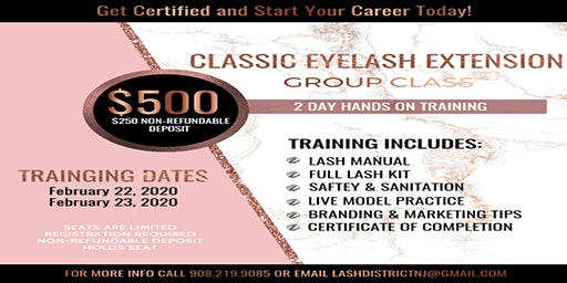 Classic Eyelash Extension Class | 2 Day Hands on Training