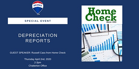 Special Event - Depreciation Reports w/ Russ Cass of Home Check tickets