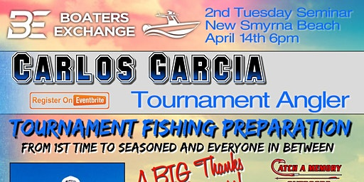 2nd Tuesday Fishing Seminar New Smyrna Beach Carlos Garcia