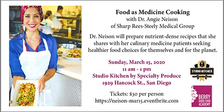 Food as Medicine Cooking with Dr. Angie Neison (BGF Academy) tickets