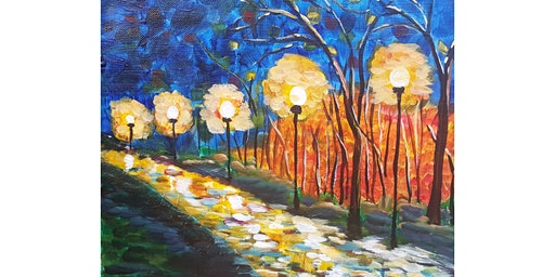 "3/12 - Corks and Canvas Event @ Helix Wines, SPOKANE ""Night Walk"""