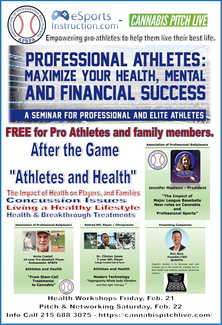 """After the Game  """"Athletes and Health""""  by APBPA & eSportsInstruction image"""