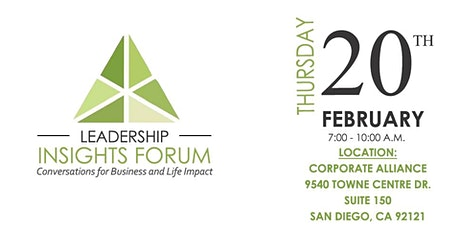Leadership Insight Forum ( 1/2 off  for attendees) tickets
