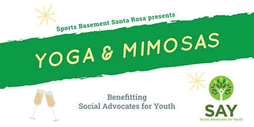 Yoga & Mimosas benefiting Social Advocates for Youth