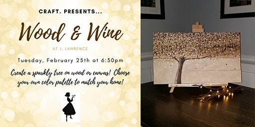 Wood & Wine at J. Law: Sparkly Tree