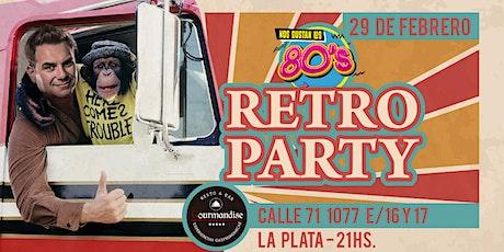 Fiesta Ochentosa en La Plata (Zona vieja Estacion) entradas