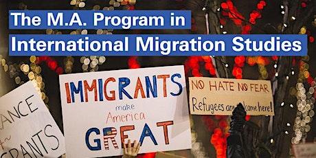 MA Program in International Migration Studies Open House tickets