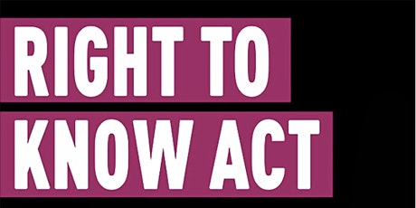 Right to Know Act Forum tickets