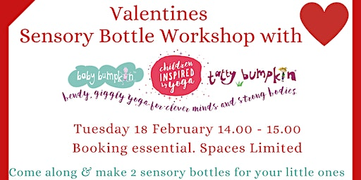 Valentines  Sensory Bottle Workshop with Tatty Bumpkin Cheltenham