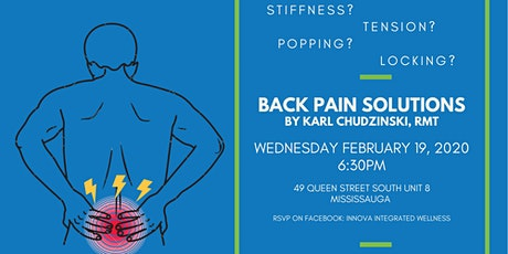 Back Pain Solutions Seminar tickets
