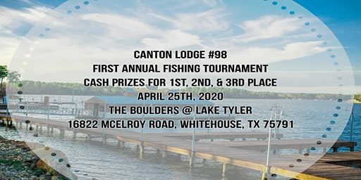 Canton #98 First Annual Fishing Tournament