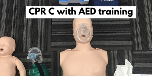 CPR-C All levels with AED training & First Aid option