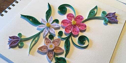 Quilling Spring Flower Shadow Box with Marky