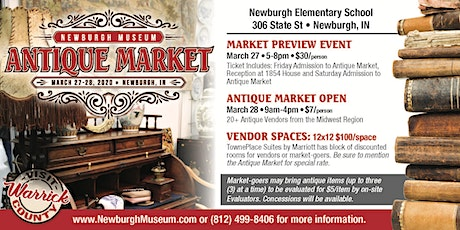 Newburgh Museum Antique Market Day 1 and Reception tickets