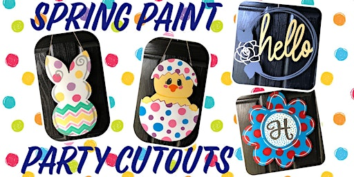 Spring Door Hanger Paint Party at Grimes Mills