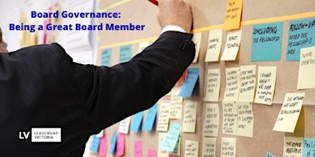 Board Governance- Being a Great Board Member tickets
