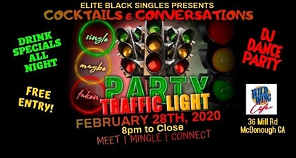 Elite Black Singles Traffic Light Singles Party at Wild Wing Cafe McDonough tickets