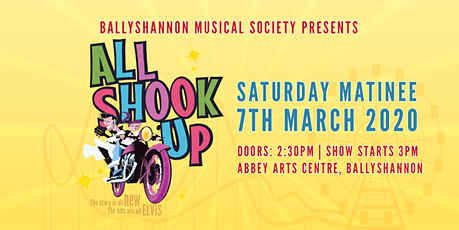 All Shook Up Musical Saturday Matinee Show tickets