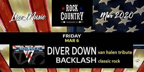 Diver Down & Backlash at Rock Country! tickets