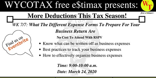 WK 7/7: What The Different Expense Forms To Prepare For Business