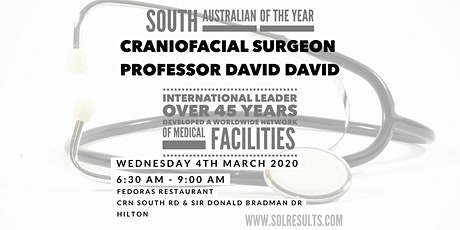 Breakfast at the Next Level | Internationally respected craniofacial surgeon Professor David David tickets
