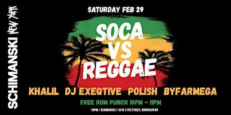 Soca vs Reggae Party tickets