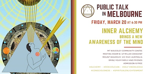 "Public Talk in Melbourne ""Inner Alchemy brings a new Awareness of the Mind"""