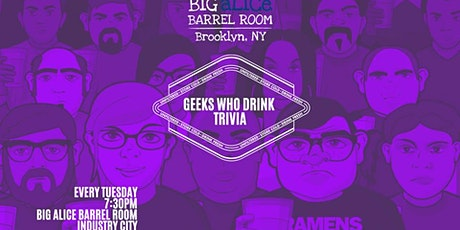 NYC BEER WEEK Geeks Who Drink Trivia at Big aLICe Barrel Room tickets