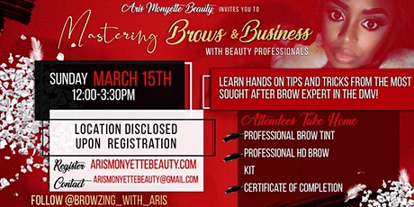 Mastering Brows and the Business tickets