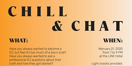 CHILL & CHAT tickets
