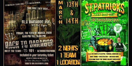 """St. Patrick's Day """"Lucky"""" Ghost Hunt & Friday the 13th Festivities with SIC"""