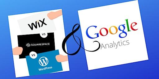 Website Basics for Wix, SquareSpace and WordPress, Plus Google Analytics - Beginner