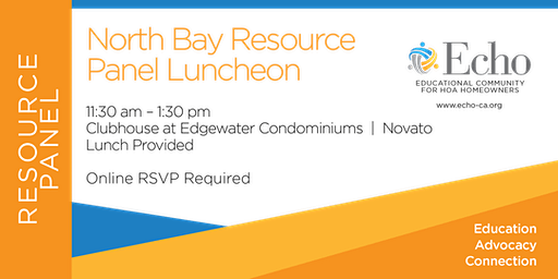 Echo North Bay Resource Panel Luncheon