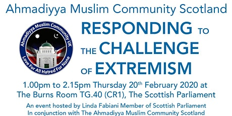 """RESPONDING TO THE CHALLENGE OF EXTREMISM"" tickets"