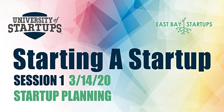 Starting A Startup - Week 1: Planning Your Startup tickets