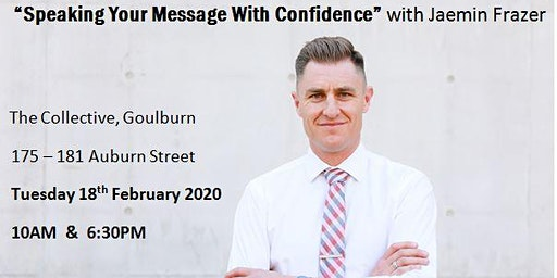 """Speaking Your Message With Confidence"" - Presented by Jaemin Frazer"