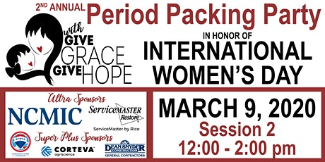 2nd Annual Period Packing Party – Session 2 – 12:00 – 2:00 pm tickets