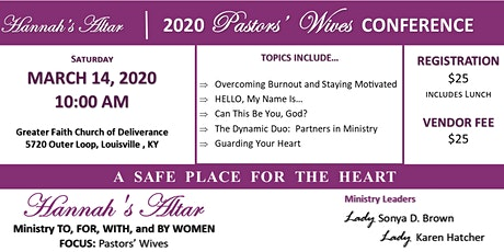 Hannah's Altar - 2020 Pastors' Wives Conference tickets