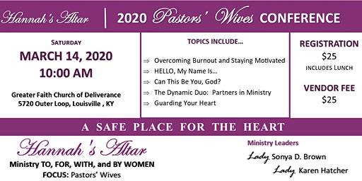 Hannah's Altar - 2020 Pastors' Wives Conference