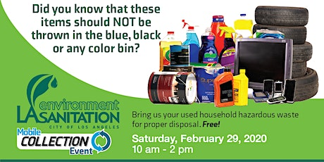 Household Hazardous Waste Collection & Distribution at Hansen Dam Rec. Center tickets