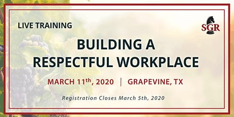 Building a Respectful Workplace - Live Training - Grapevine, TX tickets