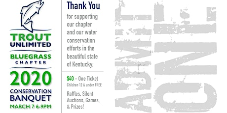 Conservation and Fundraising Banquet - Trout Unlimited tickets