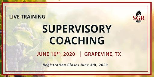 Supervisory Coaching - Live Training - Grapevine, TX