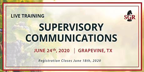 Supervisory Communications - A Virtual Live Event on June 24, 2020 tickets